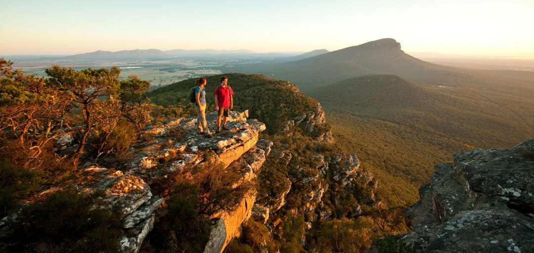 The view from Boronia Peak Lookout at The Grampian National Park