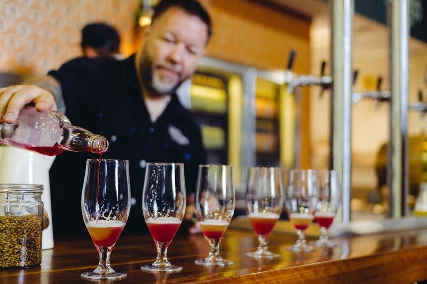 samples of cider are poured at the Yarra Valley Cider and Ail Trail