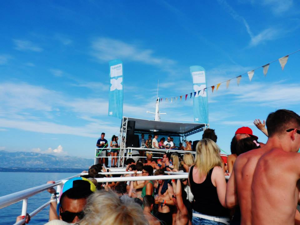 one of the boat parties at Hideout festival in Croatia
